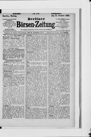 Berliner Börsen-Zeitung vom 15.10.1883