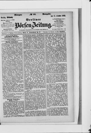 Berliner Börsen-Zeitung vom 17.10.1883