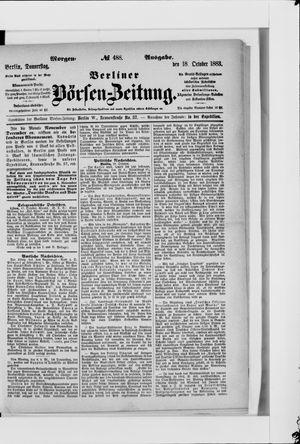 Berliner Börsen-Zeitung vom 18.10.1883