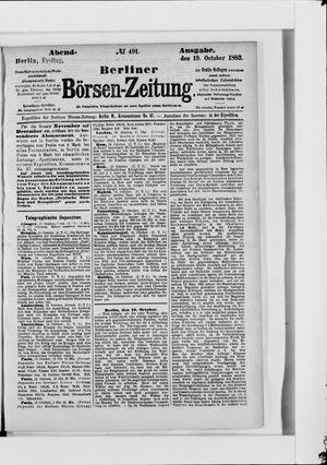 Berliner Börsen-Zeitung vom 19.10.1883