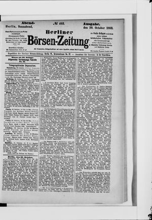 Berliner Börsen-Zeitung vom 20.10.1883