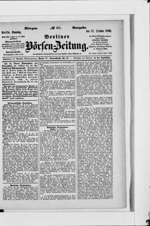 Berliner Börsen-Zeitung vom 21.10.1883