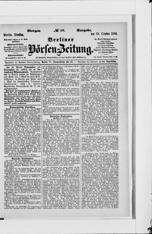 Berliner Börsen-Zeitung vom 23.10.1883