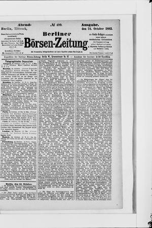 Berliner Börsen-Zeitung vom 24.10.1883