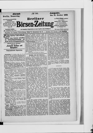Berliner Börsen-Zeitung vom 25.10.1883