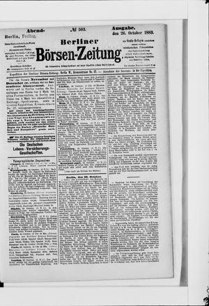 Berliner Börsen-Zeitung vom 26.10.1883