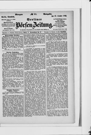 Berliner Börsen-Zeitung vom 27.10.1883