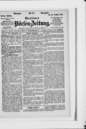 Berliner Börsen-Zeitung vom 28.10.1883