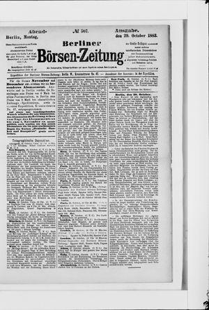 Berliner Börsen-Zeitung vom 29.10.1883