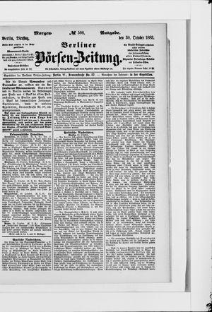 Berliner Börsen-Zeitung vom 30.10.1883