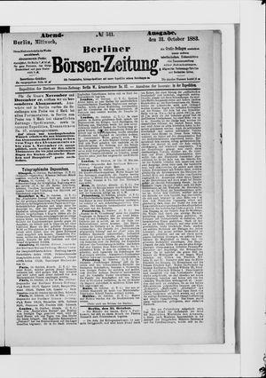 Berliner Börsen-Zeitung vom 31.10.1883
