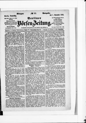Berliner Börsen-Zeitung vom 01.11.1883