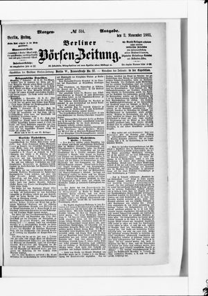 Berliner Börsen-Zeitung vom 02.11.1883
