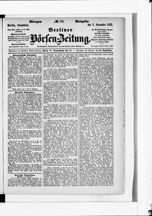 Berliner Börsen-Zeitung vom 03.11.1883