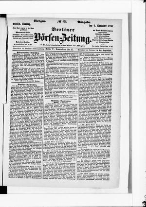 Berliner Börsen-Zeitung vom 04.11.1883