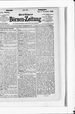 Berliner Börsen-Zeitung vom 05.11.1883