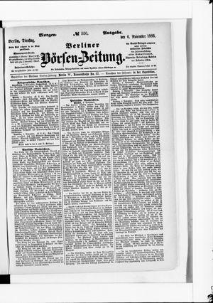 Berliner Börsen-Zeitung vom 06.11.1883