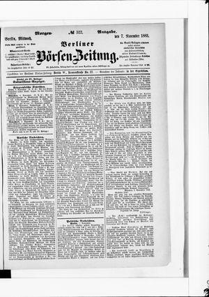 Berliner Börsen-Zeitung vom 07.11.1883