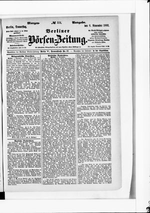 Berliner Börsen-Zeitung vom 08.11.1883