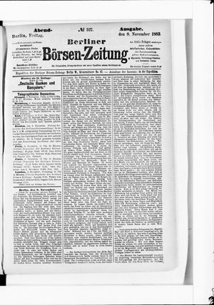 Berliner Börsen-Zeitung vom 09.11.1883