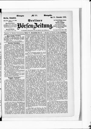 Berliner Börsen-Zeitung vom 10.11.1883