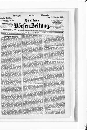 Berliner Börsen-Zeitung vom 11.11.1883