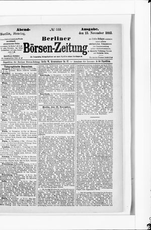 Berliner Börsen-Zeitung vom 13.11.1883