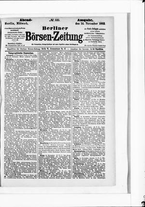 Berliner Börsen-Zeitung vom 14.11.1883