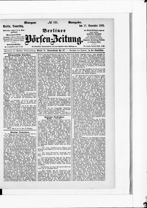 Berliner Börsen-Zeitung vom 15.11.1883