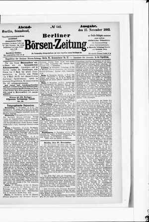 Berliner Börsen-Zeitung vom 17.11.1883