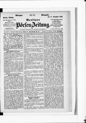 Berliner Börsen-Zeitung vom 18.11.1883