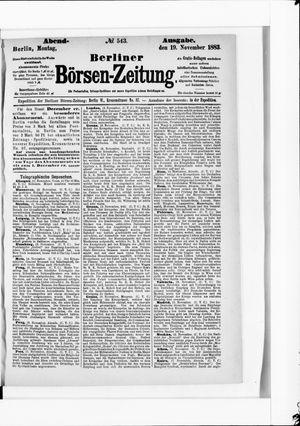 Berliner Börsen-Zeitung vom 19.11.1883