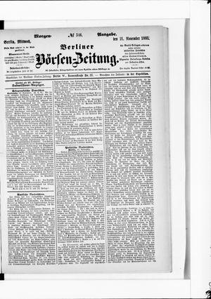 Berliner Börsen-Zeitung vom 21.11.1883