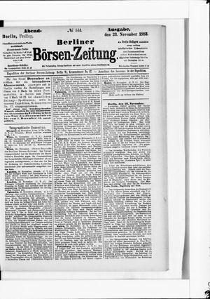 Berliner Börsen-Zeitung vom 23.11.1883