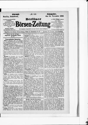 Berliner Börsen-Zeitung vom 24.11.1883