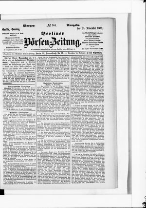 Berliner Börsen-Zeitung vom 25.11.1883