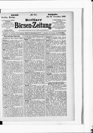 Berliner Börsen-Zeitung vom 26.11.1883