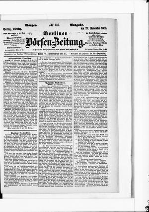 Berliner Börsen-Zeitung vom 27.11.1883