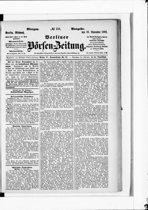 Berliner Börsen-Zeitung vom 28.11.1883