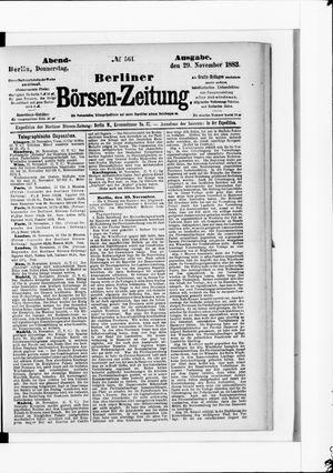 Berliner Börsen-Zeitung vom 29.11.1883