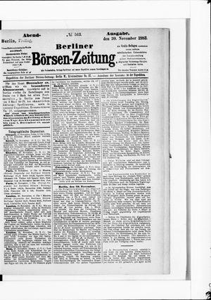 Berliner Börsen-Zeitung vom 30.11.1883