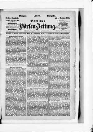 Berliner Börsen-Zeitung vom 01.12.1883