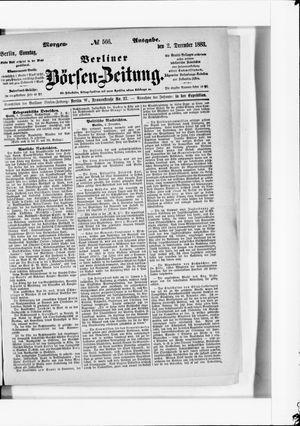 Berliner Börsen-Zeitung vom 02.12.1883