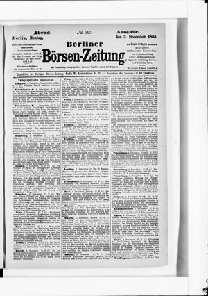 Berliner Börsen-Zeitung vom 03.12.1883