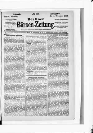 Berliner Börsen-Zeitung vom 04.12.1883