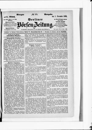 Berliner Börsen-Zeitung vom 05.12.1883