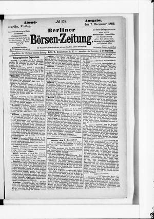 Berliner Börsen-Zeitung vom 07.12.1883