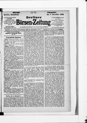 Berliner Börsen-Zeitung vom 08.12.1883