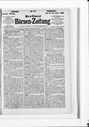 Berliner Börsen-Zeitung vom 10.12.1883