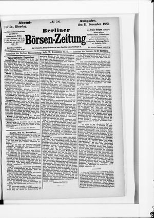Berliner Börsen-Zeitung vom 11.12.1883